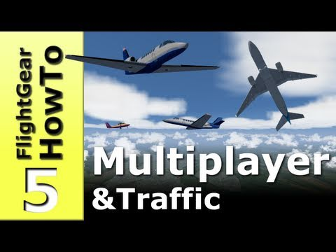 Fly online and enable AI traffic - FlightGear HowTo #5
