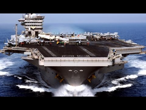 WORLDS LARGEST US Military Aircraft Carrier Ship Flight Operations