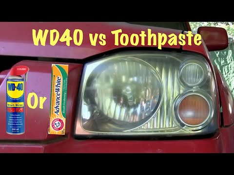 Headlight Restoration (WD40 vs Toothpaste) Plus a Trick