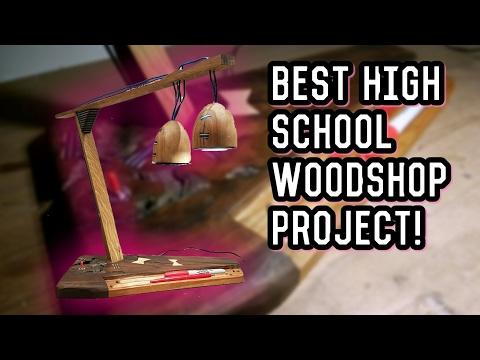 Teen Makes Amazing Lamp (High-School Wood-Shop)