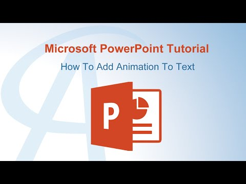How To Add Animation To Text In PowerPoint