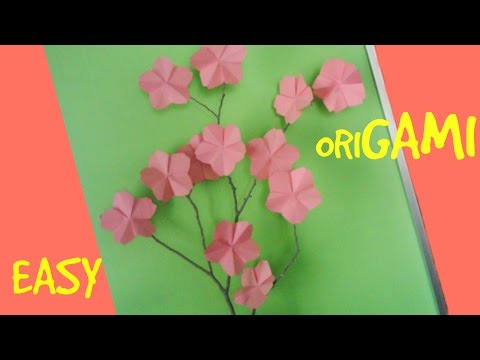 Easy Origami Crafts: How to Make an Easy Origami Cherry Blossom