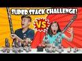 SUPER STACKING CHALLENGE!!! Brother VS. Sister Podz Battle!