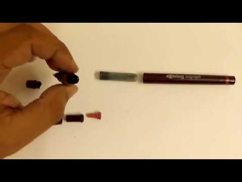 Cleaning Rotring Isograph 01