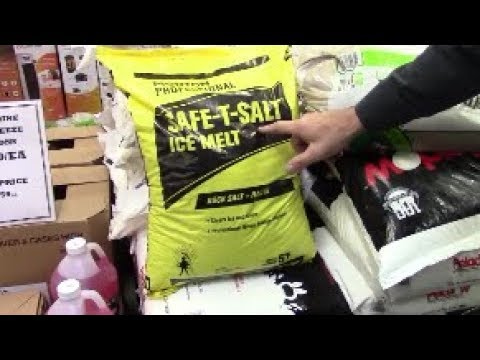 Winter ice melters rated - from salt to calcium chloride to pet safe