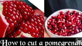 धांसु तरीके से अनार कैसे छीले 😎 Amazing Trick opening Pomegranate🍅The best way to open pomegranate