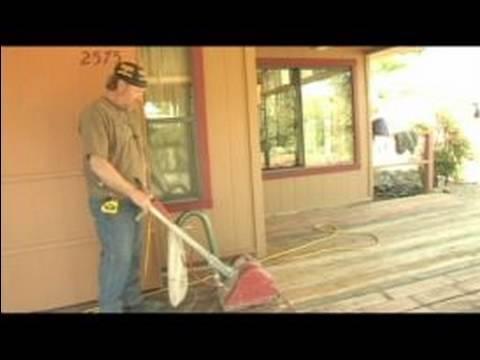 Deck Repair : Sanding a Wood Deck