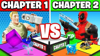 CHAPTER 1 vs CHAPTER 2 BOARD GAME (Fortnite)