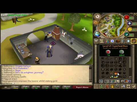 How to gain 110k experience per hour in Smithing and magic per hour - Runescape