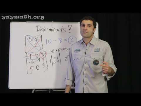 Algebra 2 - Determinants of Matrices
