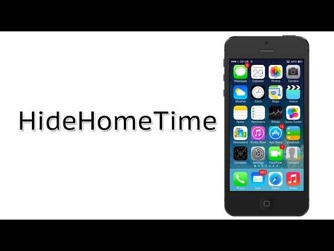 Hide the Status Bar TIme at the Home Screen   HideHomeTime Cydia Tweak Review