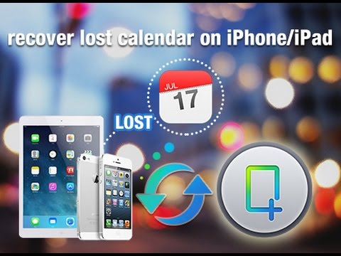 How to Recover Deleted Calendar on iPhone