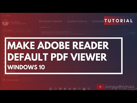 How to Make Adobe Reader Default PDF Viewer in Windows 10
