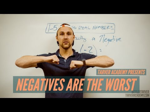Subtracting a Negative Number // Tarver Academy