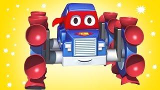 Carl o Super Caminhão e Carl escalador ! na Cidade do Carro | Desenho animado para crianças