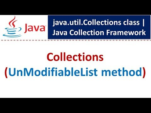 Java : Collection Framework : Collections [UnModifiableList]