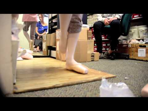 Kyla's first pointe shoe fitting - Age 10 Grishko and Suffolk