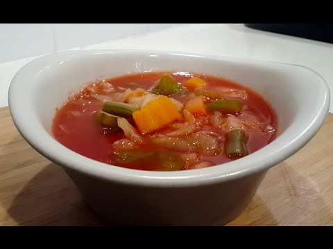 Cabbage Soup (Free Soup on most diet plans) Vegetarian / Low Carb