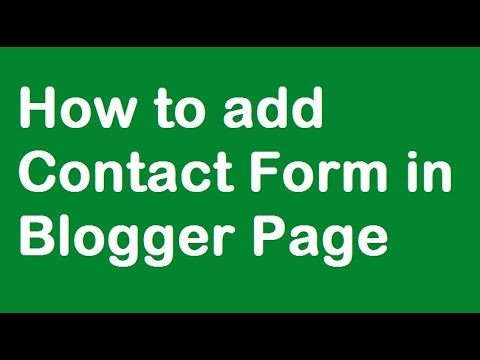 How to Add Contact Form in Blogger Page