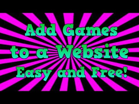 How to Add Games to a Weebly Website for Free! - Easy and Fast - September 2014