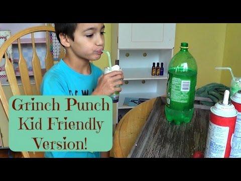 Grinch Punch | #KidsInTheKitchen | MamaKatTV