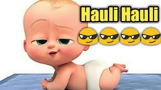 Hauli Hauli (full song) De pyar de   Ajay devgan   Animated boss baby version.