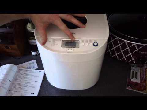 Making home made bread with a machine