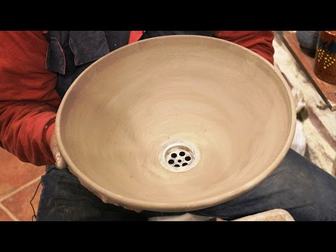 Pottery basin video: How to make a pottery sink on potter's wheel. #106