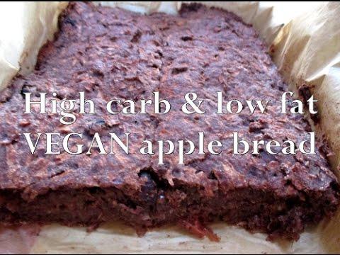 High Carb Low Fat Vegan Apple bread