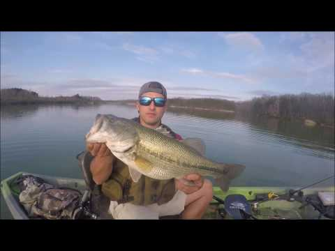 Offshore Bass Fishing in a Small Reservoir