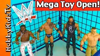 WWE Mega Toy SHAKE DOWN! Steel Cage Match Royal Rumble Open Review HobbyKidsTV