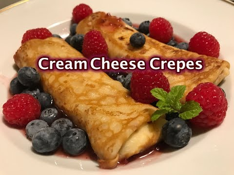 Cream Cheese Crepes recipe - How to make Cheese Crepes - Cheese blintzes recipes