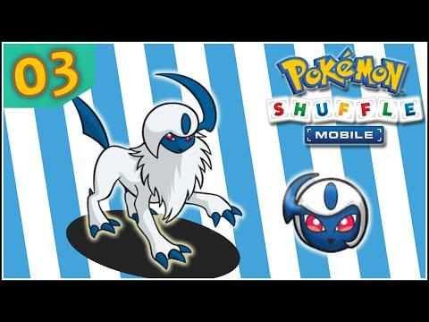 Pokémon Shuffle Mobile [Sin Objetos] 03 - DERROTANDO A ABSOL CON PEQUEÑOS POKES XD