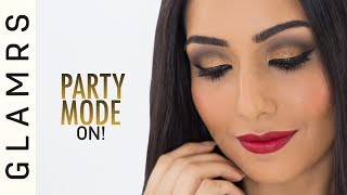 Copper Smokey Eyes And Red Lips | Glamrs Makeup with Pallavi Symons