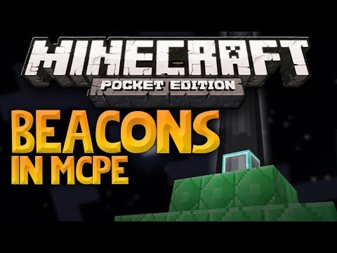 MCPE HOW TO MAKE A BEACON//MINECRAFT PE 0.16,0 UPDATE