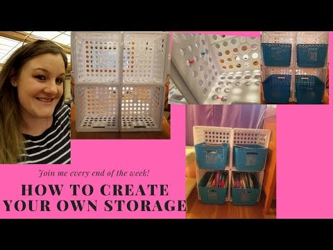 How to make your own storage cube furniture