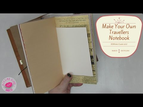 How to Make Your Own Travelers Notebook or A5 Journal from Recycled Materials | KISSing Class #07