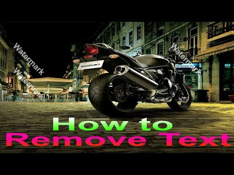 How to Remove Text/Watermark from Image Background | Photoshop Tutorials