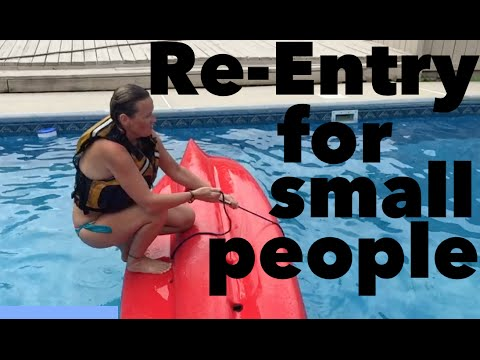 How to re-enter a sit on top fishing kayak Smaller Person - SAFETY TIPS