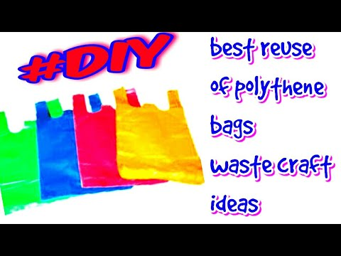 plastic bag craft | GENIUS way to  reuse plastic bag ideas | BEST OUT OF WASTE | be crafty