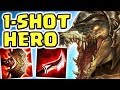 MAX LETHALITY ONE W 1 SHOT JUNGLE RENEKTON ASSASSIN BUILD THIS IS NOT OKAY ILL BE YOUR HERO
