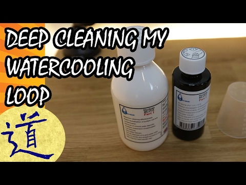 Cleaning and maintaining a watercooling loop