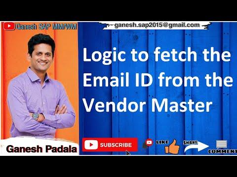 Logic to fetch Vendor Email address in SAP by Ganesh Padala