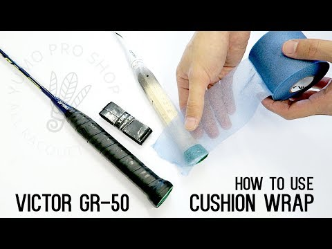 How To: Wrap a Badminton Racket with Cushion Wrap - YumoTube