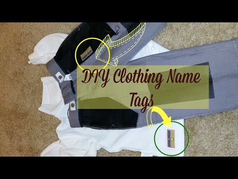 How to Make DIY Clothing Labels