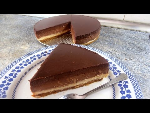 TRIPLE CHOCOLATE MOUSSE CAKE -  Tasty and easy food dessert recipes for dinner to make at home