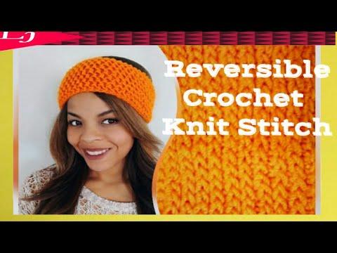 Reversible Crochet Headband - Camel Stitch Crochet Ear Warmers