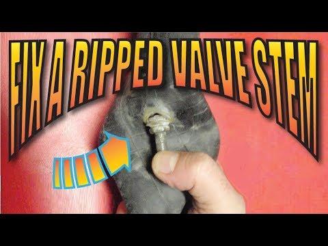 Easy Inner Tube Valve Stem Repair