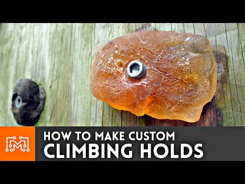 Climbing wall hand holds // How-To