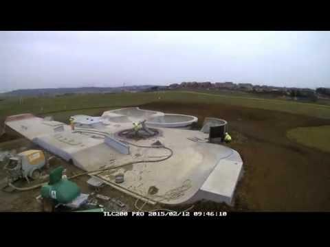 Timelapse of Skatepark build in Peacehaven UK (4 min edit)